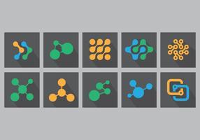 Nanotechnology Flat Icon Set