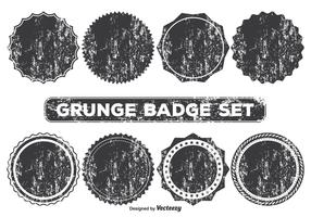 Grunge Style Badge Shapes