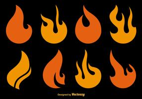 Flat Fire Vector Icons