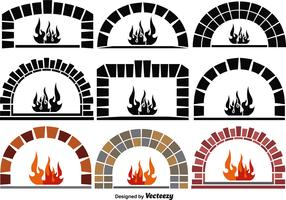 Vector Pizza Ovens Elements