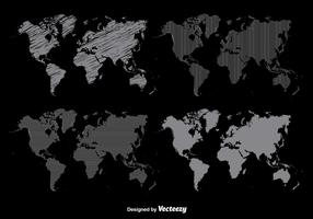 Worldmap Vector Set