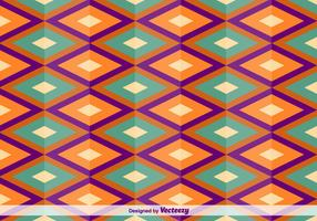 Geometric Square Oriental Vector Pattern