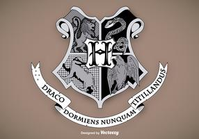 Hogwarts School Shield Vector