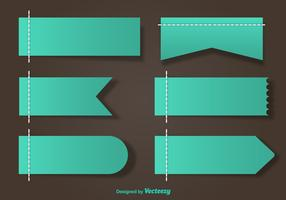 Stitched Green Vector Labels