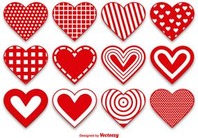 Set of Modern and Cute Heart Vectors