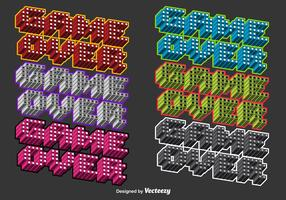 3D Colorful Game Over Vector Messages