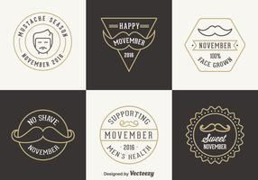 Free Movember Vector Badges