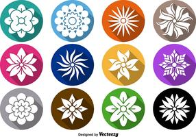 Flower Icon Vector Set