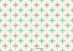 Geometrical Hearts Vector Pattern
