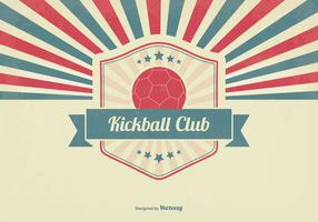 Retro Kickball Club Illustration