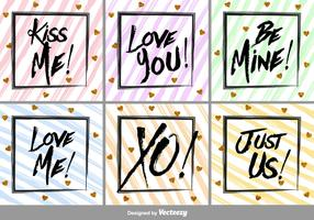 Brushed Love Vector Labels