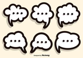 Callout Speech Bubble Vector Set