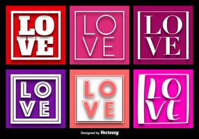 LOVE Word Background Vectors