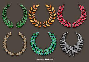 Colorful Wreaths Vector Set