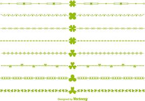 Green Vector Irish Borders and Divider Vectors