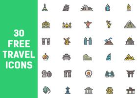 30 Free Travel Icon Vectors