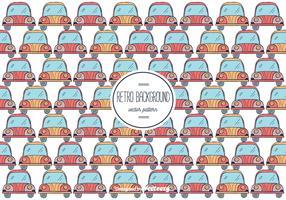 Retro Car Background Vector