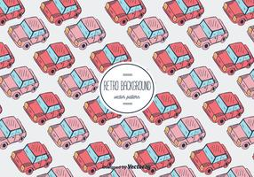 Retro Car Vector Pattern Background