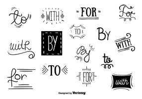 Catchwords Vector Set