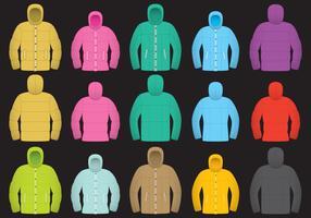 Colorful Wintercoat Vectors