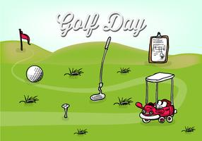 Free Golf Day Vector Illustration