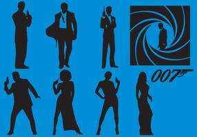 James Bond Silhouette Vectors