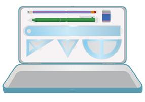 Stationery Pencil Case Vector