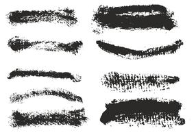 Free Vector Eroded Brush Strokes Set