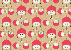 Free Vector Lychee Fruit Pattern