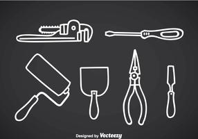 Construction Tools Outline Icons