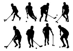 Free Vector Floorball Silhouette On White Background