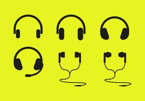 Ear Buds Headphones Icons Vector
