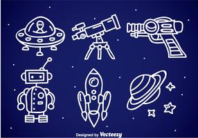 Space Fantasy Doodle Icons