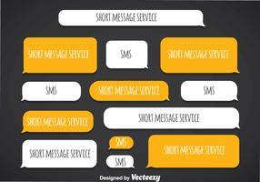 Short Message Service Blank Template Vector