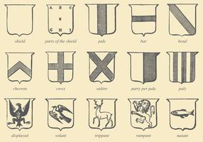Old Style Drawing Heraldic Vectors