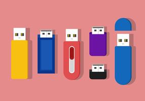 Pen Drive Vector Icons