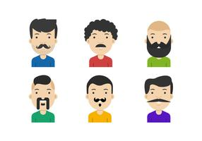 Movember Mustached Face Vectors