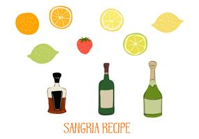 Sangria Ingredients Vector