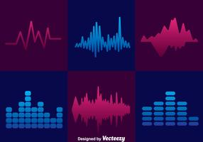 Minimal Sound Bars Icons Sets