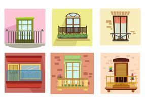 Apartment Balcony Vector