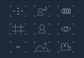 Viewfinder Line Icon Vectors