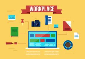 Free Work Place Vector Elements and Icons