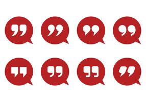 Quotation Mark And Bubble Vectors
