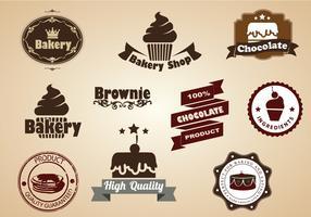 Brownie and Dessert Badges Vector Set