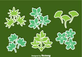 Herbs Leaves Icons Vector