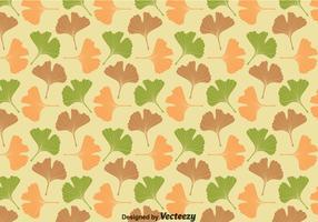 Ginko Biloba Leaves Pattern Vector