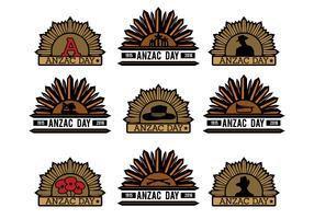 Anzac Vector Badges