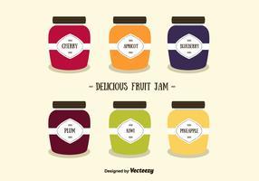 Fruit Jams Vector