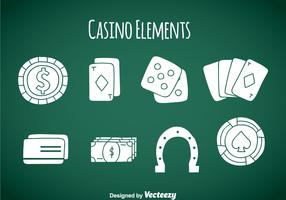 Casino Element Icons Vector