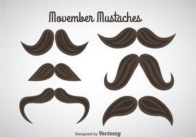Movember Mustaches Vector